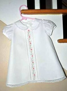 Jennifer's beautiful heirloom dress for one of her foster babies