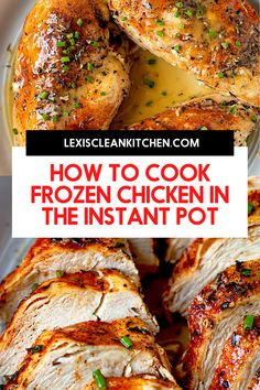 Frozen Chicken Recipe Instant Pot, Pressure Cook Frozen Chicken, Chicken Breast Instant Pot Recipes, Frozen Chicken Recipes, Instant Pot Dinner Recipes, Chicken Breast Recipes Healthy, Pressure Cooker Recipes, Slow Cooker, Chicken Breasts