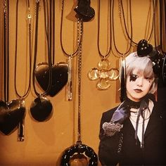 @lilit.es Dark goth & Dark Lolita necklaces #handmade #schmuck #goth #gothgirl #gothlolita #lolita #necklaces #necklace #anillos #colgantes #jewelry #jewels #choker #witch #instafashion #instachic #instapic #instatrend #lolitafashion #toledo #madeinspain #madrid #nightlife #black #onyx #gothic #bisuteria #bijoux #schmuck @nana_by_margalgau