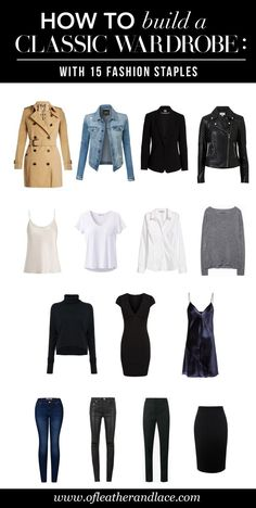 15 Fashion Staples to Build a Classic Wardrobe Are you trying to build a classic wardrobe that will last you through the years or decades to come? Then you will definitely need these 15 fashion staples. Capsule Outfits, Fashion Capsule, Mode Outfits, Fashion Outfits, Suit Fashion, Fashion Basics, Luxury Fashion, Travel Outfits, Fashion Clothes