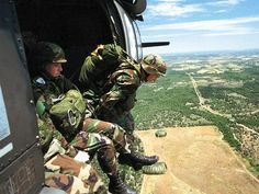 Army Airborne soldiers Got to love the fall from a Black hawk