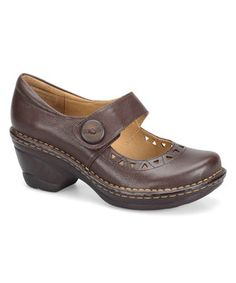 Look what I found on #zulily! Softspots Chocolate Lesley Leather Mary Jane by Softspots #zulilyfinds