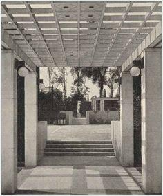 JOSEF HOFFMANN Pergola and garden terrace at Stoclet Palace