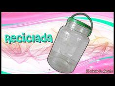 Garrafa de plástico RECICLADA con decoupage muy fácil - DIY Manualidades - YouTube Decoupage, Drink Bottles, Water Bottle, Diy, Make It Yourself, Blog, Handmade, Bottle, Shopping