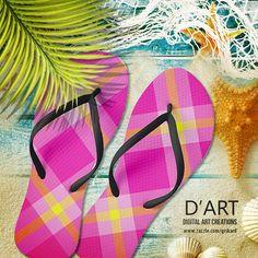 #plaid, #tartan, #plaidpattern, #tartanpattern, #fashion, #modern, #bold, #bright, #neon, #summer, #vacation, #beach #flipflops #sandals #footwear #inaflashflipflops #zazzle #zazzler #zazzleshop #digitalartcreations
