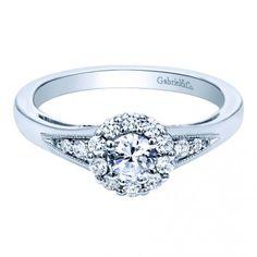 Gabriel & Co Engagement Ring #rings #diamonds #engagementring #ido #shesaidyes #love #engaged #halo www.dickinsonjewelers.com