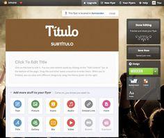 Smore, una vistosa herramienta para crear publicaciones web | Nuevas tecnologías aplicadas a la educación | Educa con TIC