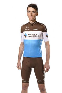 AG2R-La Mondiale French team AG2R have departed from their classic and long-standing design with a banded jersey for 2018 - modelled here by their GC contender Romain Bardet