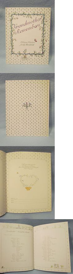 Keepsakes and Baby Announcements 117388: Grandmother Grandchild Baby Memory Keepsake Record Book Photo Album Journal-New -> BUY IT NOW ONLY: $30 on eBay!