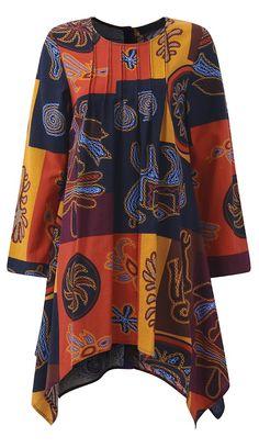 UP TO 48% OFF! Women Ethnic Printed Long Sleeve Irregular Hem T-shirts. SHOP NOW!