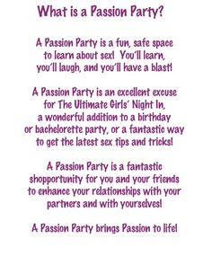So...what is a Passion Party, anyway?