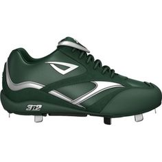 Mens 3N2 Showtime Lo Baseball Cleats Green Leather - ONLY $48.45