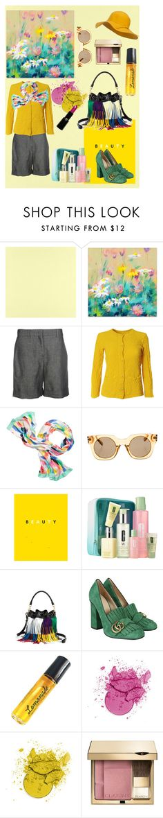 """""""SIMPLE BEAUTY!!!!"""" by kskafida ❤ liked on Polyvore featuring Casadeco, N°21, Issey Miyake Cauliflower, Kate Spade, Marc Jacobs, Clinique, Yves Saint Laurent, Gucci, I'm Fabulous and Clarins"""