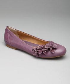 This Plum Purple Shailene Flat by b.o.c is a soft finishing touch. Unique colour. #zulilyfinds