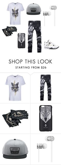 """""""Untitled #16"""" by butterflyking ❤ liked on Polyvore featuring Kloters Milano, Marcelo Burlon, Vans, Beats by Dr. Dre, Jordan Brand, men's fashion and menswear"""