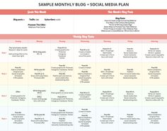 Day Social Media Plan For Your Blog Plus A Free Planner