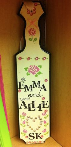 Sigma Kappa Paddle @Kelly Teske Goldsworthy Herberg this design reminds me of something you would do