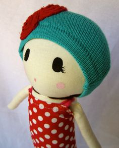 Todd's n' Socks Cloth doll by Mend by Ruby Grace Made to order