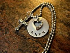 Hand Stamped Jewelry Personalized Jewelry by CharmAccents on Etsy,