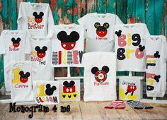 Mickey Mouse Disney world bib 1st birthday big bro lil bro big brother little brother monogram personalized mouse towel birthday