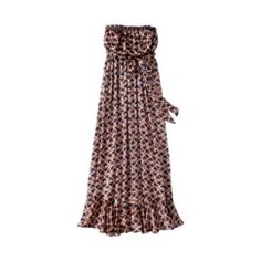 The Webster at Target® Strapless Maxi Dress - Deco Print Navy/Melon