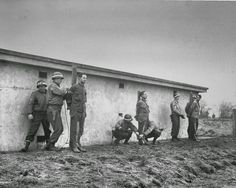 German spies, caught behind US lines dressed in US uniforms, are prepared for execution, 1944.
