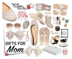 """""""##giftguide"""" by edin-levic ❤ liked on Polyvore featuring Post-It, Innisfree, Chloé, Cara, Tom Ford, White + Warren, Eric Javits, Maje, UGG and Saddlebred"""