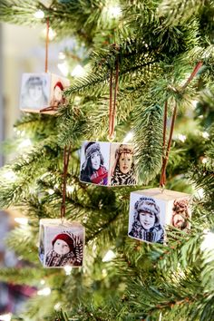 Canon Christmas Photo Wood Block Ornament - Bower Power- Happy New Year Picture Christmas Ornaments, Diy Photo Ornaments, Homemade Ornaments, Christmas Wood, Christmas Photos, Christmas Tree Decorations, Salt Dough Ornaments, Christmas Canvas, Homemade Christmas