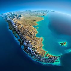 South America. These interesting relief maps have been created by Anton Balazh with elements furnished by NASA