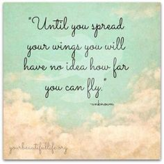 spread your wings and fly... / Your Beautiful Life / Quotes for inspiration