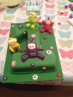 Teletubbies 1st Birthday cake Teletubbies Birthday Cake, Teletubbies Cake, 1st Birthday Cakes, Cake Recipes, Desserts, Tv, Food, Tailgate Desserts, Deserts