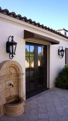 Custom Design Project: Spanish bathroom vanities - Demejico Spanish Revival, Spanish Style Homes, Spanish House, Spanish Colonial, Spanish Style Bathrooms, Spanish Bathroom, Renaissance Espagnole, Style Hacienda, Fachada Colonial