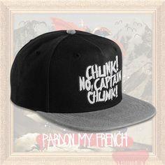 Chunk! No, Captain Chunk! Logo Black/Grey Snapback
