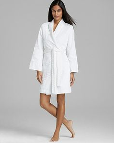 Oscar de La Renta Signature Day at the Spa Cotton Terry Robe Women -  Sleepwear   Robes - Bloomingdale s 5ad39102b
