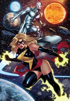 Ms Marvel, Marvel Comics, Silver Surfer, Marvel Universe, Avengers, Wonder Woman, Superhero, Anime, Crossover