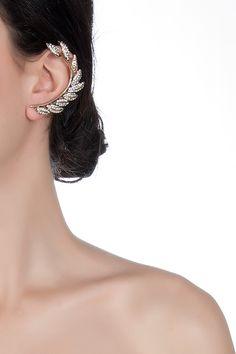 Cem Lokmanhekim Yaprak Detaylı Ear Cuff: Lidyana    From lidyana.com
