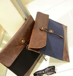 unisex leather clutch/bag.. makes for a great gift for men