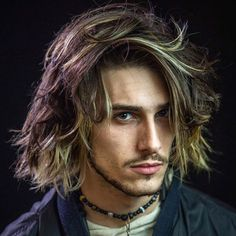 37 Messy Hairstyles For Men Guide) - Men's Messy Long Hair – Best Messy Hairstyles For Men: Cool Short, Medium and Long Messy Hair F - Messy Medium Hair, Long Messy Hair, Long Layered Hair, Long Hair Cuts, Medium Hair Styles, Short Hair Styles, Curly Hair, Hair Updo, Long Curly
