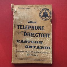 Call your Fri-YAY Friends and make some plans. The weekend is near! #Repost @peclibrary  #FBF to 1907 when the phone book for all of Eastern Ontario was 311 pages and Wellington only took up 2 of them. Come to the #PrinceEdwardCounty Public Library and #Archives to check out this little gem! #bayofquinte #escapetoronto #ygk
