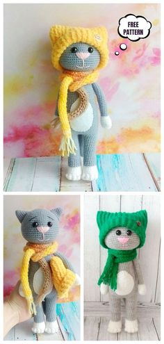 Crochet Cat in Hat Amigurumi Free Patterns - DIY Magazine