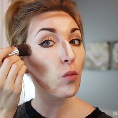 How To Highlight and Contour the easy way!@Shari Brown Brown Brown Brown Brown Stidham