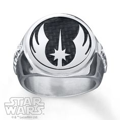 Star Wars Mens Star Wars Band Imperial Crest Stainless Steel VIrNj