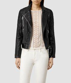 Favel Leather Biker Jacket