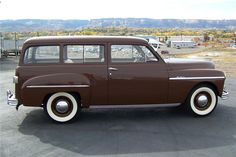 1949 Plymouth Suburban 2-door station wagon.