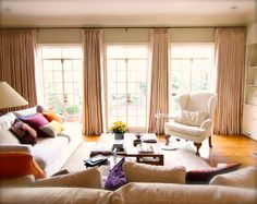 Functional Drapes in Family Room