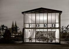 Ford pavilion, Messegelände, Cologne, 1950. Photography by Karl Hugo Schmölz