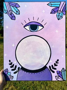 Eye See a Witch | Witchy Canvas Art
