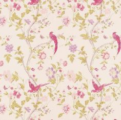 Laura Ashley Wallpaper 2 Rolls Summer Palace Cerise | eBay