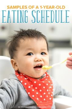 Knowing when and how often to feed your baby (now toddler) can be confusing. Get samples of a 1 year old eating schedule right here! Nursing Schedule, Baby Food Schedule, Eating Schedule, 1 Year Old Meals, One Year Old, 1 Year Old Schedule, 1 Year Baby, Thing 1, Baby Eating