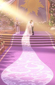 Rapunzel and Eugene's wedding